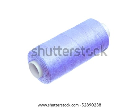 Sewing thread spool isolated - stock photo