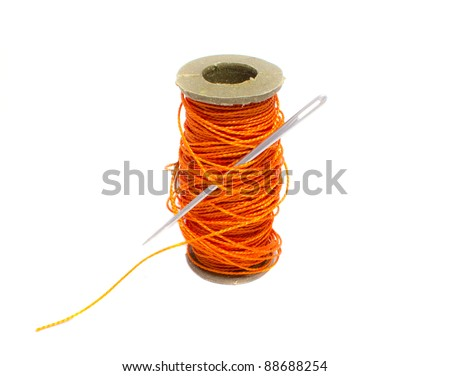 sewing thread with needle