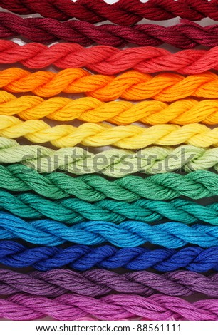 sewing threads for embroidery closeup - stock photo