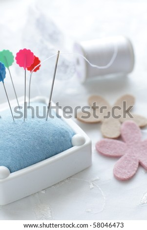 Sewing tools - stock photo
