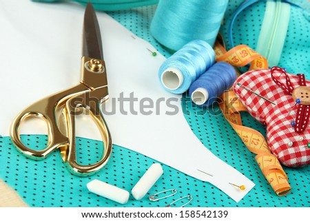 Sewing tools fashion design  - stock photo