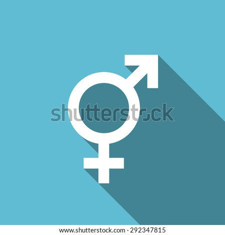 sex flat icon gender sign original modern design flat icon for web and mobile app with long shadow