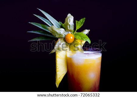 Sex on the Beach mixed drink - stock photo