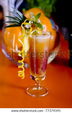 Sex on the Beach mixed drink  vintage look - stock photo