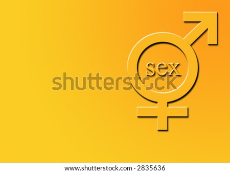 sex symbol (5 of 7) male, female and sex text