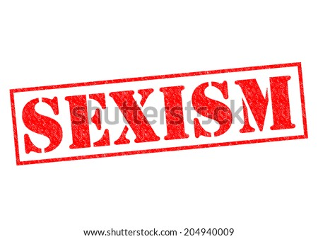SEXISM red Rubber Stamp over a white background.