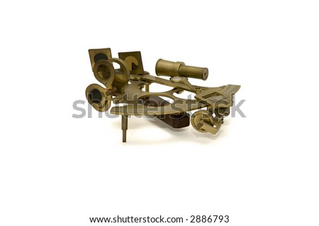 sextant isolated on white background - stock photo