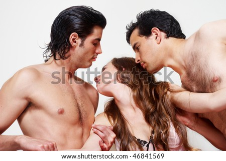 Sexual a prelude three together - stock photo