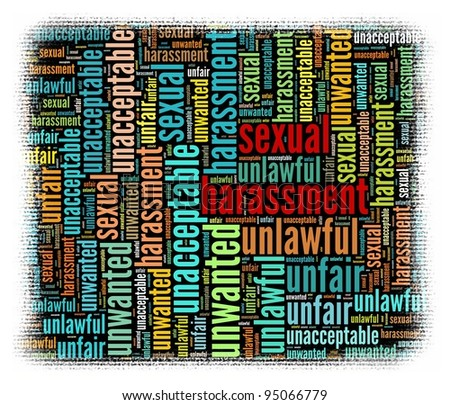 Sexual harassment Concept in word collage - stock photo