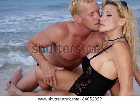 Sexuality on the Beach - stock photo