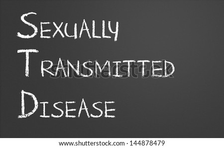 Sexually transmitted disease written on a chalkboard - stock photo