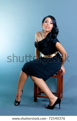 Sexy African American Woman posing - stock photo