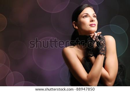 sexy and beautiful woman - stock photo