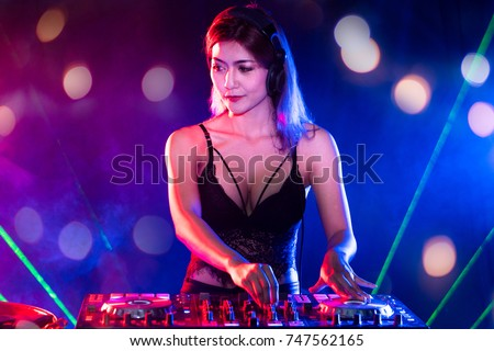 Female Disc Jockey Stock Images Royalty Free Images