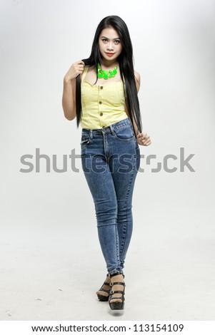 Sexy asian girl - stock photo