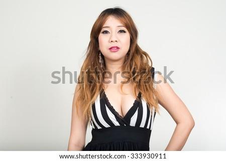 Sexy Asian woman - stock photo