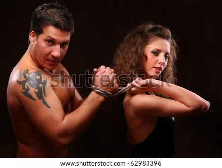 Sexy BDSM - stock photo