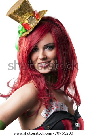 Sexy beautiful lady portrait - stock photo