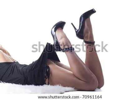 Sexy beautiful legs - stock photo