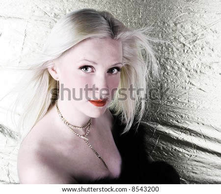 sexy blond girl - stock photo