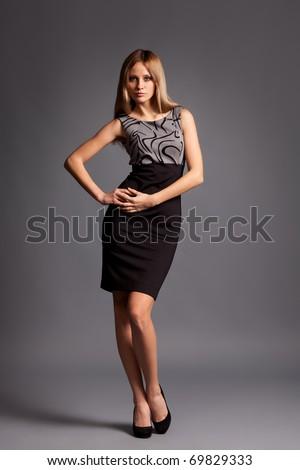 Sexy blonde Fashion Lady - stock photo