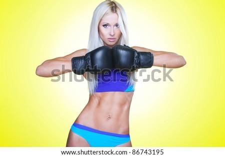 Sexy boxer - stock photo