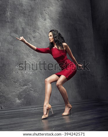 Sexy brunette posing - stock photo
