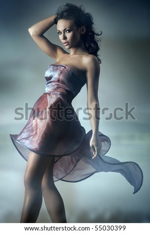 Sexy brunette posing - stock photo