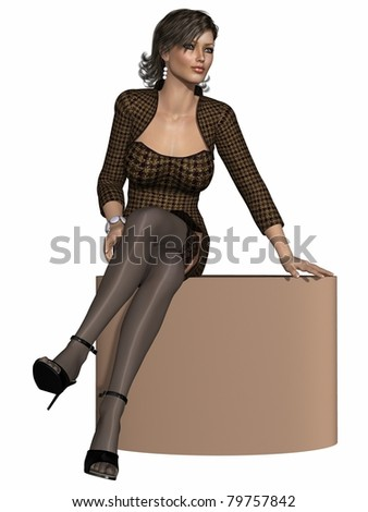 Sexy business woman - stock photo