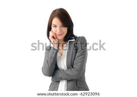 Sexy business woman posing - stock photo