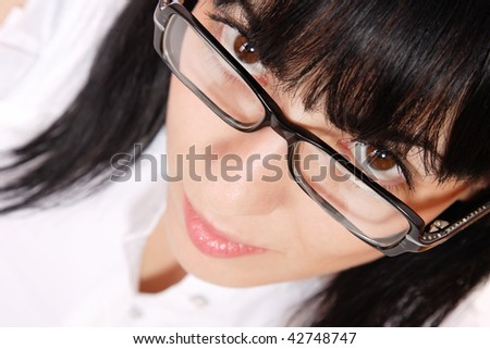 Sexy Business Woman wearing glasses