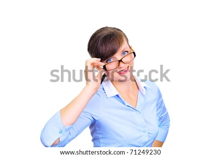 Sexy businesswoman with glasses