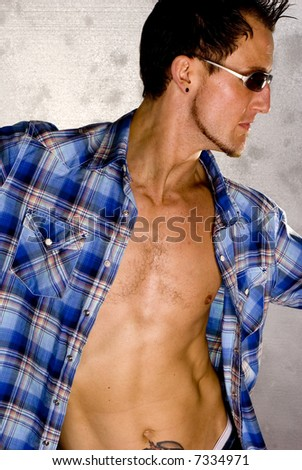 Sexy Casual Guy - Fashion Pose