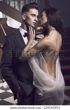Sexy couple - stock photo
