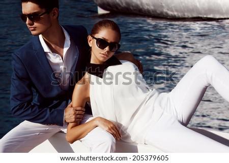 Sexy couple - stock photo