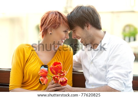 Sexy couple enjoying their date - stock photo