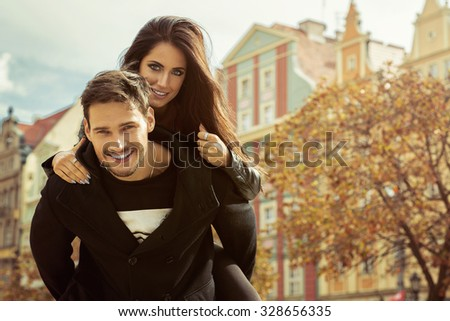Sexy couple hugging each other - stock photo