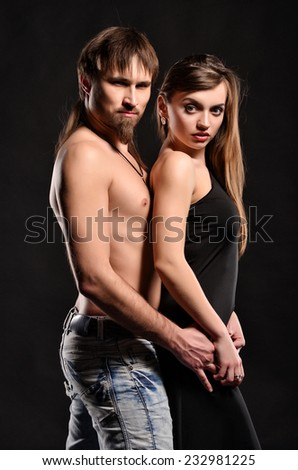 Sexy couple in love - stock photo