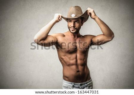 Sexy Cowboy - stock photo