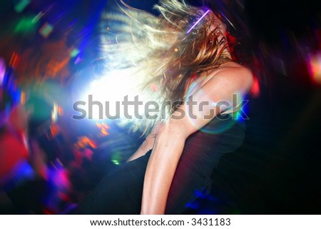 Sexy Dancer, Dancing at the Disco Party - stock photo