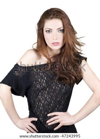 Sexy fashion model - stock photo