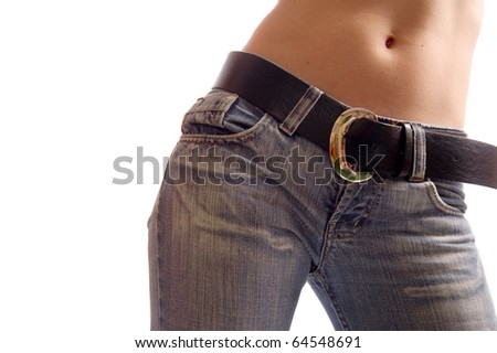 Sexy female stomach - stock photo