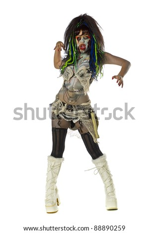 Sexy female zombie Go Go dancer
