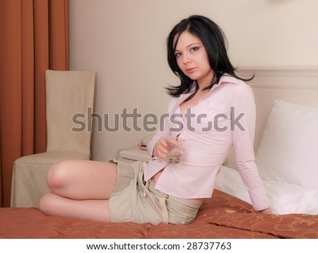 sexy girl erotica - stock photo