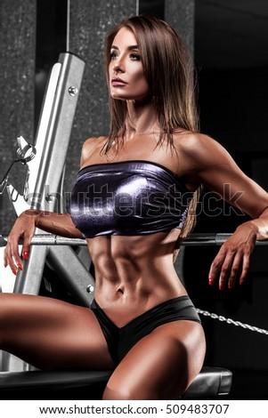 Sexy woman gym