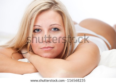 Sexy girl in lingerie - stock photo