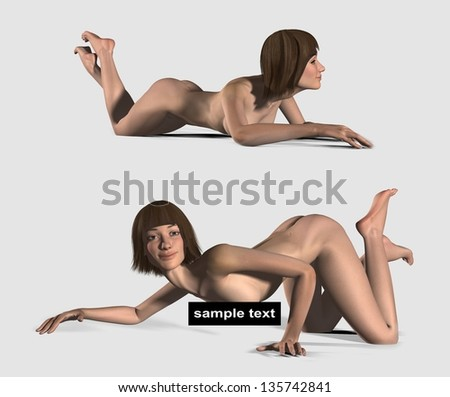 Sexy girl. Instead of censoring your text - stock photo
