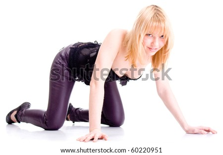 Sexy girl posing - stock photo