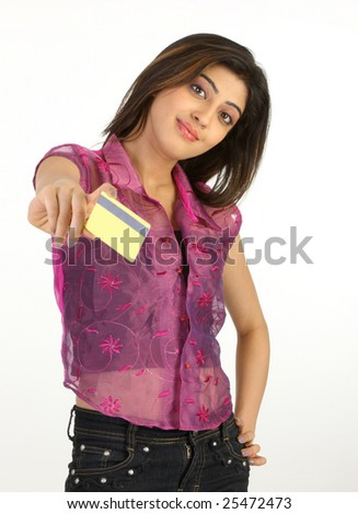 sexy girl with credit card