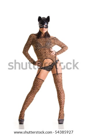Sexy go go dancer wearing catwoman costume and mask  sc 1 st  Shutterstock & Sexy Go Go Dancer Wearing Catwoman Stock Photo (Royalty Free ...